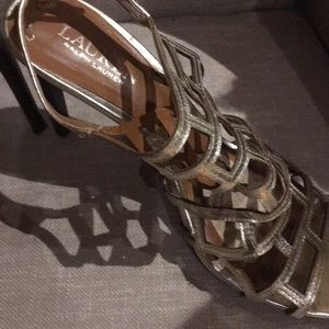 Ralph Lauren gold leather shoes